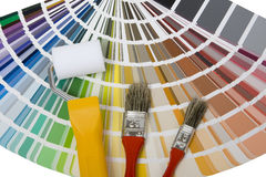 Color palette with color patterns Stock Photos