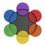 Color palette concept. Color palette of circles as concept royalty free illustration