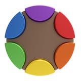 Color palette concept. Color palette of circles as concept stock illustration