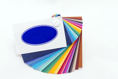 Color palette for designers. Different colored card - full color palette for designers Royalty Free Stock Photo
