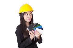 Color palette. Engineer with color palette, professional stock images