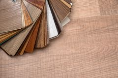 Color palette for furniture. On table stock images