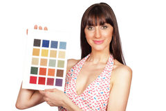 Color palette girl Stock Images