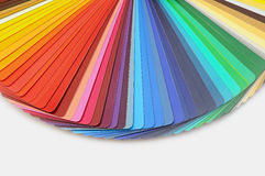 Color palette guide. For printing industry stock photo
