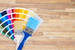 Color palette guide Stock Photos