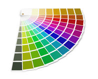 color palette guide (clipping path included) Stock Images