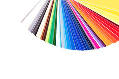 Color palette, guide of paint samples Stock Photography
