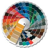 Color palette guide for printing industry. Stock Photos