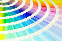 Color palette guide for printing industry. Isolated stock photography