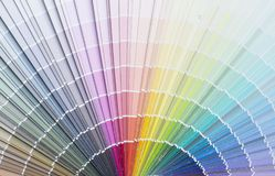 Color palette guide or color samples. Close up image of color palette guide or color samples stock photography