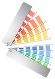 Color palette guide. On white royalty free illustration