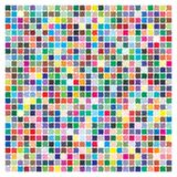 Color palette with halftone pattern. 729 different colors. Size 189 x 189 mm vector illustration