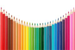 Color palette made of colorful pencils Royalty Free Stock Images