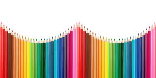Color palette made of colorful pencils Royalty Free Stock Photo