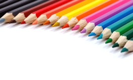 Color palette made in colorful pencils Stock Image
