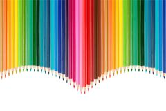Color palette made of colorful pencils stock photos