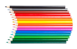 Color palette made in colorful pencils Stock Photography