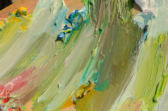 Color palette. Oil paint, brush strokes royalty free stock photo