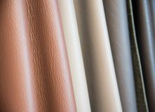 Color palette sample of leather material. Color palette sample of leather material as a background Royalty Free Stock Photos