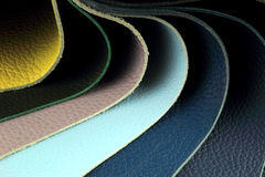 Color palette sample picker of leather material Royalty Free Stock Photography