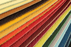Color palette sample picker of leather material Royalty Free Stock Image