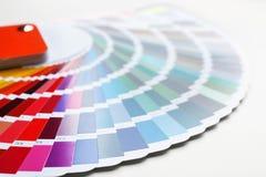 Color palette samples, closeup. Color palette samples, close up royalty free stock photos