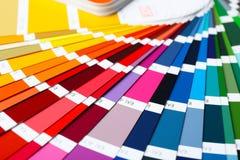 Color palette samples, closeup. Color palette samples, close up Stock Image
