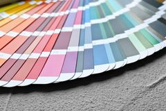 Color palette samples royalty free stock photo