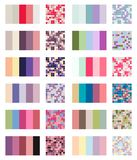 Color palette set background. Harmony color combos spectrum.  Stock Photography