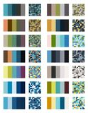 Color palette set background. Harmony color combos spectrum Royalty Free Stock Images