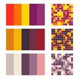 Color palette set background. Harmony color combos spectrum Stock Image