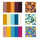 Color palette set background. Harmony color combos spectrum Stock Photography