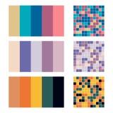 Color palette set background. Harmony color combos spectrum Stock Images