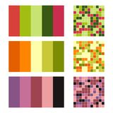 Color palette set background. Harmony color combos spectrum Royalty Free Stock Photo