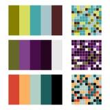 Color palette set background. Harmony color combos spectrum Stock Photos