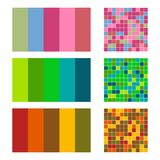 Color palette set background. Harmony color combos spectrum Royalty Free Stock Photography