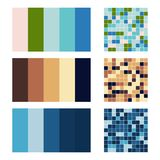 Color palette set background. Harmony color combos spectrum Stock Photo