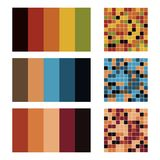 Color palette set background. Harmony color combos spectrum Royalty Free Stock Photos
