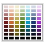 Color palette. Color shade chart. Vector illustration. Royalty Free Stock Photo