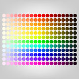 Color palette with shade of colors Royalty Free Stock Photos