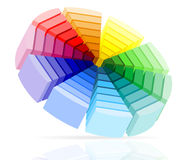 Color palette vector illustration Royalty Free Stock Image