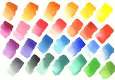 Color palette of watercolor paints Stock Photography