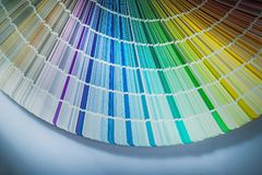 Color palette on white background.  royalty free stock image