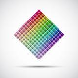 Color palette on white background. Vector illustration royalty free illustration