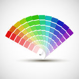 Color palette  on white background Stock Photography