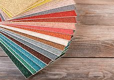 Color palette on the wooden background Royalty Free Stock Image