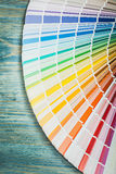 Color palette on wooden board construction concept Stock Photography