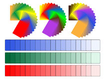 Color palettes. Vector color palettes with various colors and shades Royalty Free Stock Image