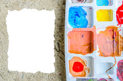 Color pallet. With blank space Stock Photo
