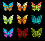 Color pallet of butterfly Stock Photo